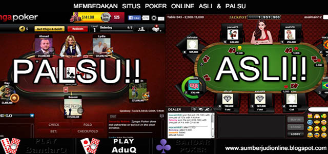 Kriteria Agen Judi Casino Online Palsu